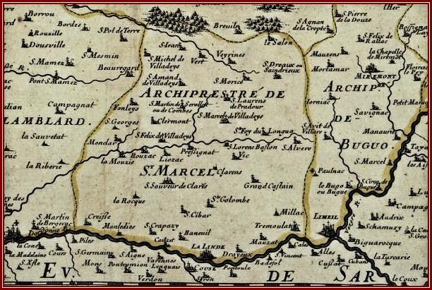 Trois cartes anciennes de Liorac